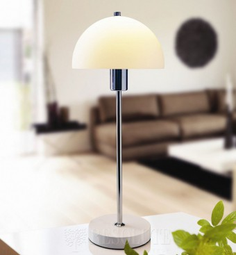 Настольная лампа Herstal Vienda white glass 13071140106
